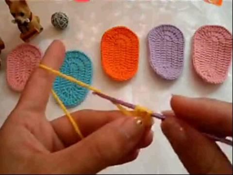 【宝宝鞋鞋底的钩法 亲子毛线宝宝鞋编织视频】