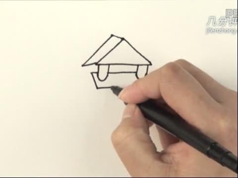 儿童玩积木 简笔画内容图片展示